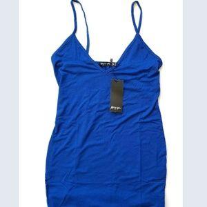 NastyGal size 6 Blue Mini Tank Dress